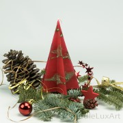 Pyramidenlkerze Stern Tropfendesign - 15cm - rot gruen