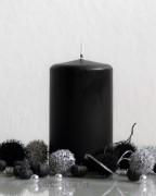 Stumpenkerze Matt Schwarz - 7 x 12cm