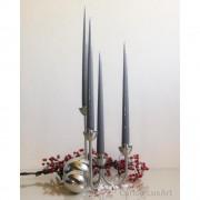 4er Tafelkerzen Spitzkerzen Set - Edel lackiert - verschiedene Farben - 32cm