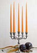 12er Tafelkerzen Spitzkerzen Leuchterkerzen Set - Orange 38cm