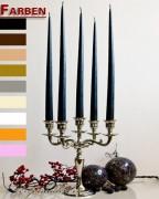 12er Tafelkerzen Spitzkerzen Leuchterkerzen Set - verschiedene Farben - 38cm