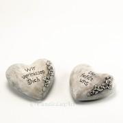 Trauer Herz mit Aufschrift 2 Varianten 10cm