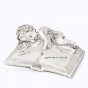 Trauer Engel auf Buch liegend mit Aufschrift 17cm