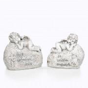Trauer Engel auf Stein 2 Varianten 12cm